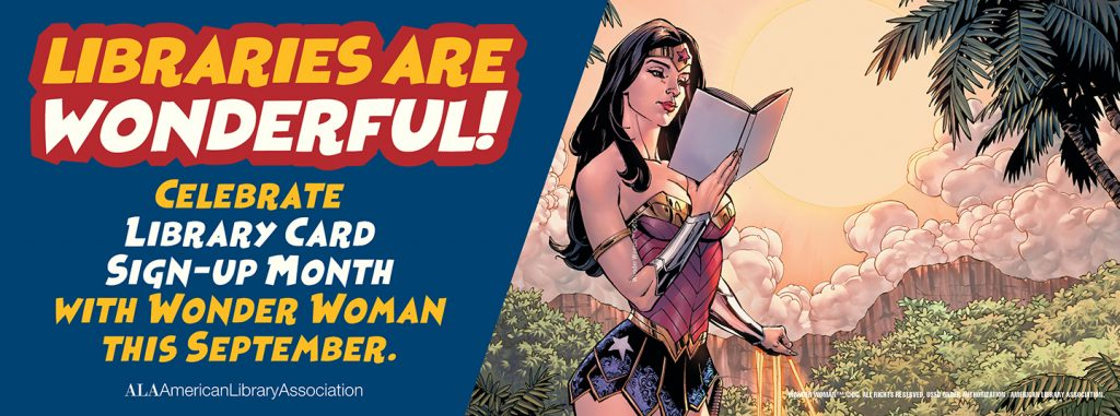 Wonder Woman Library Card
